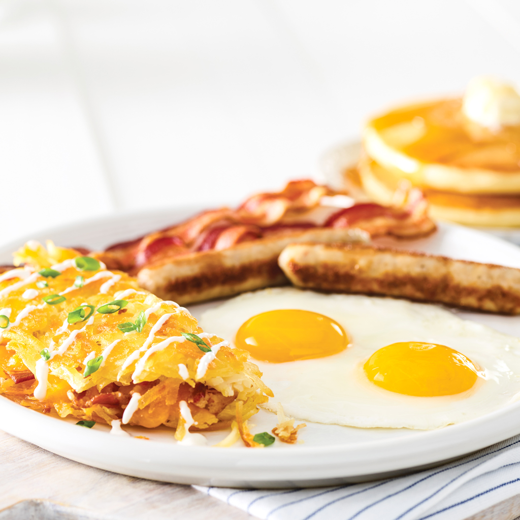 Loaded Hash Browns Breakfast Platter*